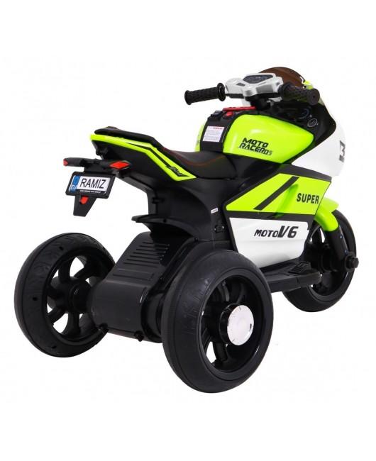 Elektrická motorka SUPER zelená